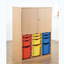 Mixed Size Tray and Cupboard Combination Unit  medium