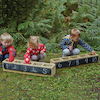 Wooden Outdoor Number Troughs  small