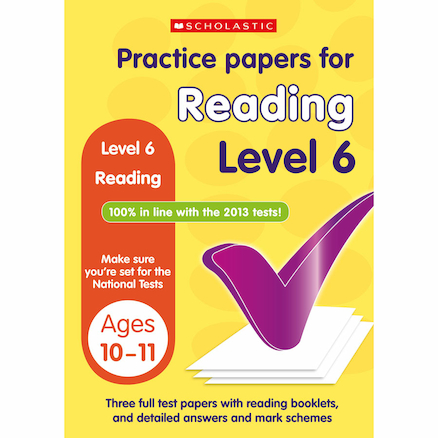 Practice Papers for Reading Level 6  large