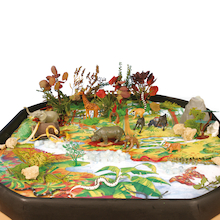 Active World Tuff Tray Jungle Mat  medium