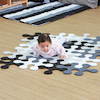 Black \x26 White Jigsaw Rug Rounded  small