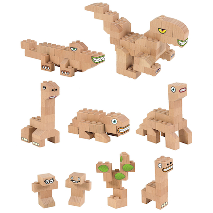 Eco Wooden Construction Bricks  large
