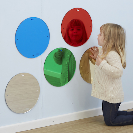Coloured Circled Mirrors  large