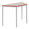 Fully Welded Tables Coloured Edge Trapezium  small