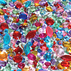 Acrylic Mirror Backed Plastic Gem Stones  small