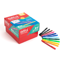 Berol® Colour Broad Fibre Tipped Assorted Pens  medium