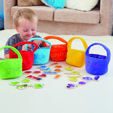 Colour Sorting Shopping Bags and Objects 30pcs  large