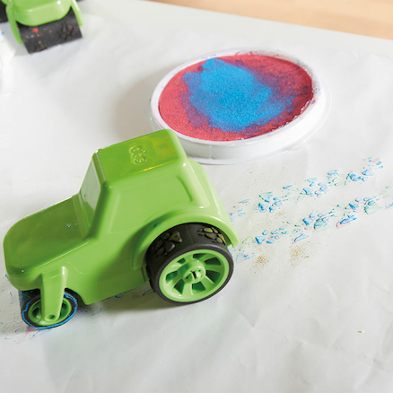 Mark Making Messy Painting Trucks 4pk  large