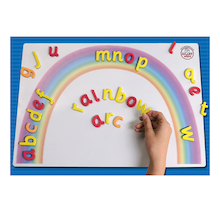 Magnetic Double Sided Letter Rainbow Arc A3  medium