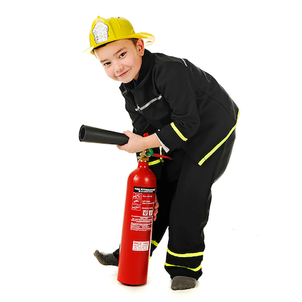 Role Play Dressing Up Fire Fighter Outfit  large
