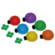 Six Colour Cannon Catch and Balls 6pk  medium