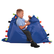 Sensory Touch Tags Bean Bag Floor Cushion  medium