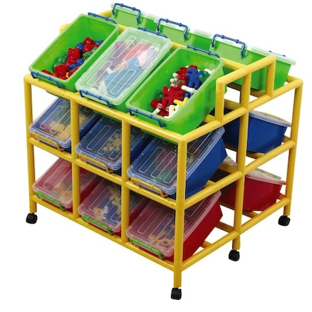 Rainbow 18 Tilt Bin Storage Unit  large