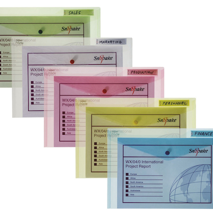 Snopake Polyfiles A3 Electra Assorted 5pk  large