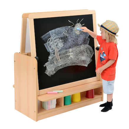 Room Scenes Double Easel with Storage  large