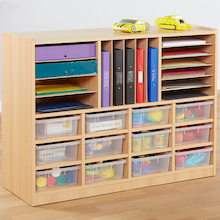 Open Storage Unit with Mixed Size Compartments  medium