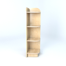 Right Hand Library End Bookcase In Maple  medium