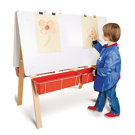 Four Person Classroom Easel  large