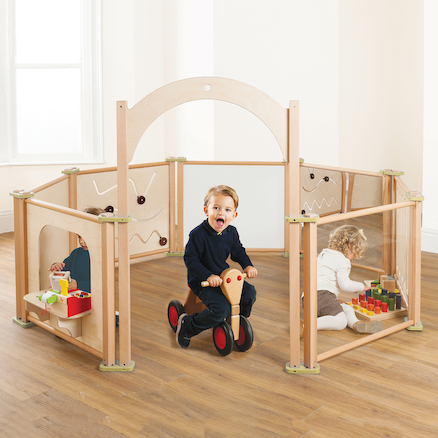 Freestanding Toddler Wooden Panels  large