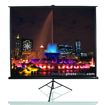 Pull Up Tripod Projector Screen 4:3  large