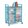 Large Trolley With Eight Lidded Trays  small