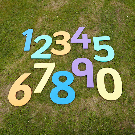 Outdoor Giant Foam Numbers 0\-9  large