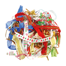 Assorted Christmas Ribbons 100g  medium