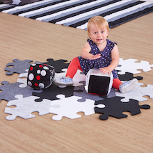 Black & White Jigsaw Rug  medium
