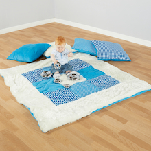 Teal Textured Baby Blanket and Cushions Offer  medium