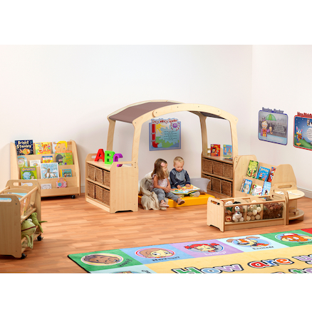 Millhouse Reading Zone Taupe Roof Without Baskets  large