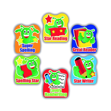 Bookworm Literacy Reward Stickers 200pk  large