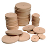 Mixed Wooden Wheels 4mm Hole  small