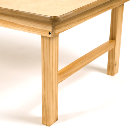 Natural Wooden Folding Early Years Table  large