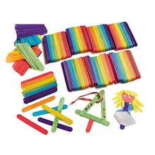 Giant Wooden Lolly Sticks Assorted 500pk  medium