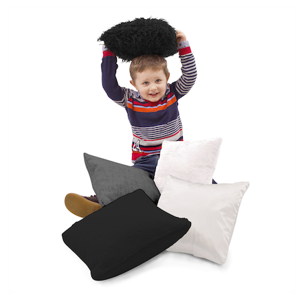 Black and White Sensory Cushions  large