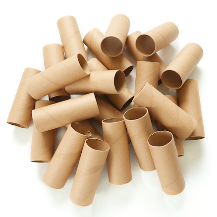 Recycled Sturdy Cardboard Craft Rolls 24pk  large