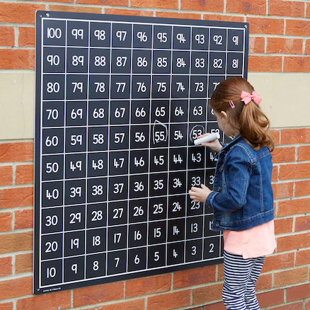 Outdoor Hundred Square Chalkboards  large