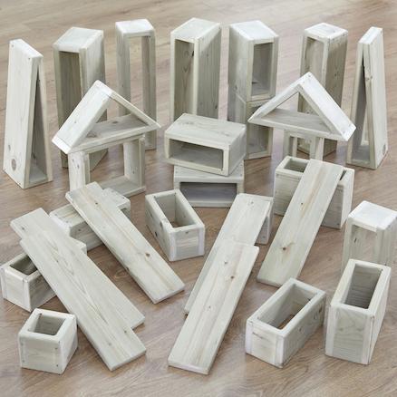 Buy Giant Outdoor Wooden Hollow Building Blocks Tts