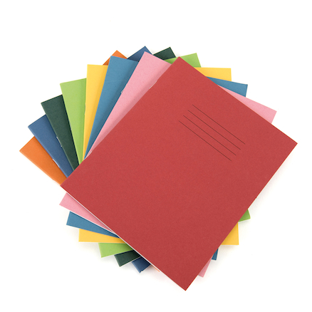 9 x 7\'\' 80 page Exercise Books 100 pack  large