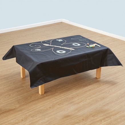 Chalkboard Cloth Table Covers 1 x 1.2m 2pk  large