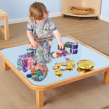 Toddler Mirror Wooden Creative Low Table  large