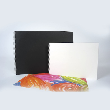 Pisces Spiral Sketchbooks Black A3 120gsm  large