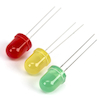 8mm LEDs Mixed Coloured 30pk  small