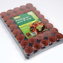 Plastic Plant Pot Tray 40pk  medium