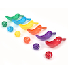 Plastic 6 Colour Playground Scoopers with Ball 6pk  small