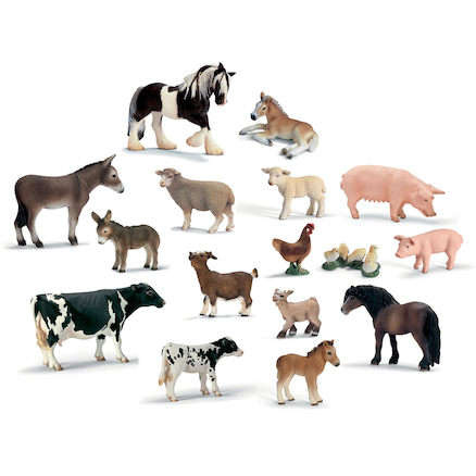 Farm Animals and their Young 14pcs  large
