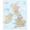 UK Physical Political Reversible Map A0  small