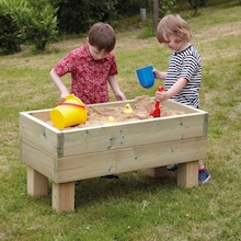 Free Standing Wooden Sandpit  medium