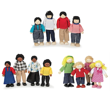 Small World Multicultural Dolls House Families  medium