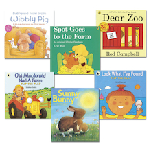 Toddler Books With Flaps 6pk  medium
